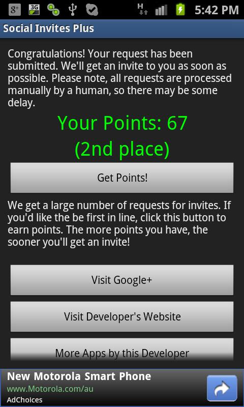 Google+ Invites