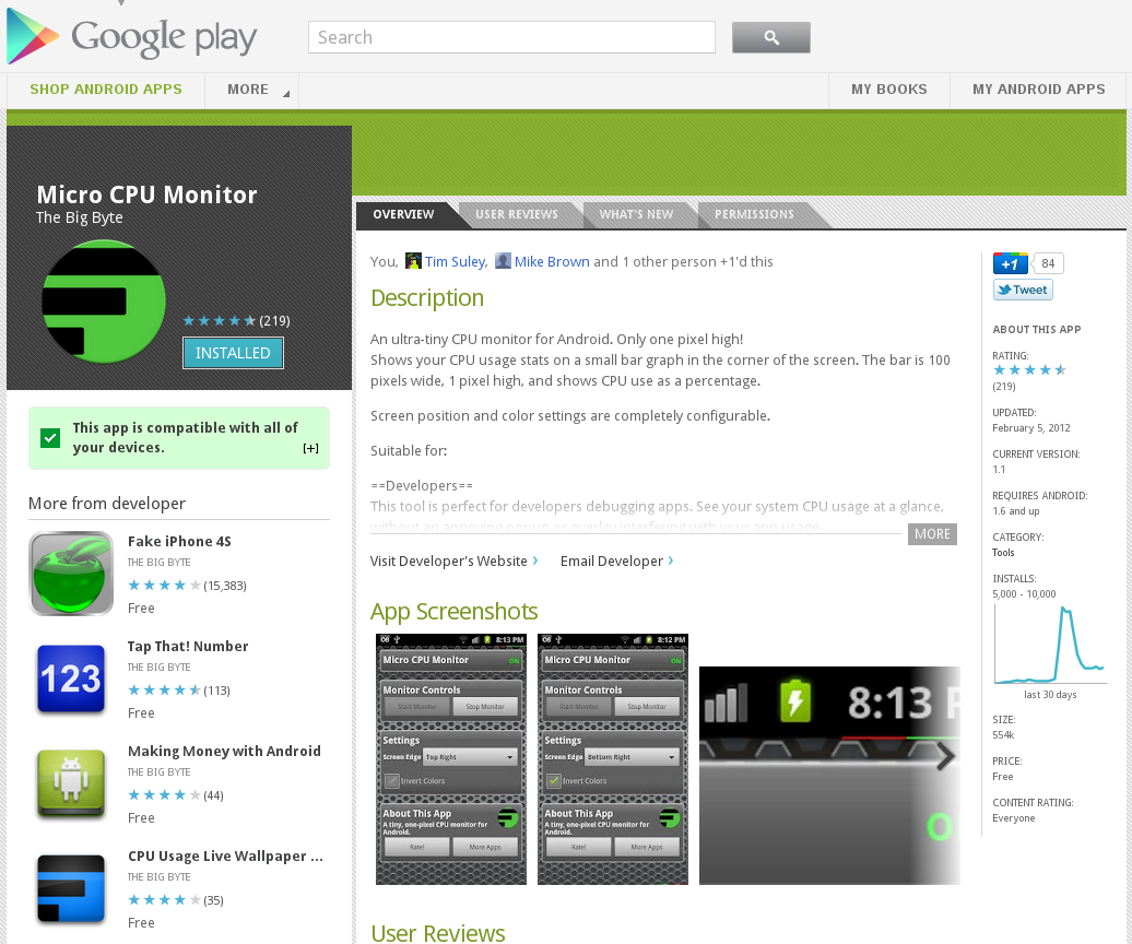 Google Play Store Screenshot