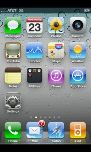 Fake iPhone 4S Screenshot